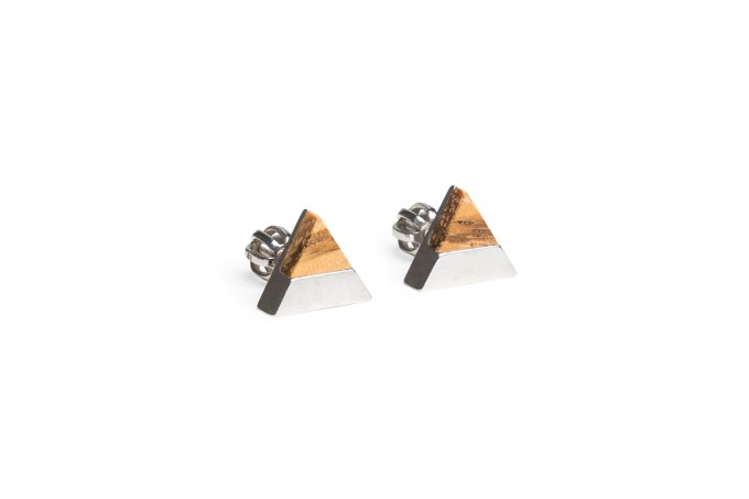 Ohrringe Api Earrings Triangle von BeWooden