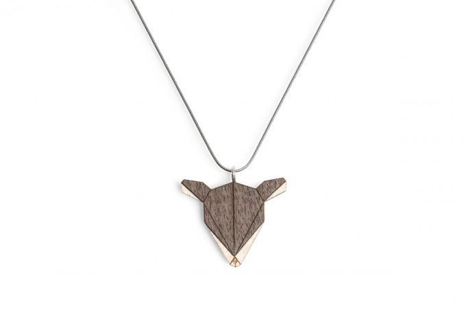 """BeWooden Halskette mit Anhänger mit Tiermotiv """"Doe Pendant"""""""