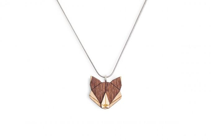 """BeWooden Halskette mit Anhänger mit Tiermotiv """"Fox Pendant"""""""