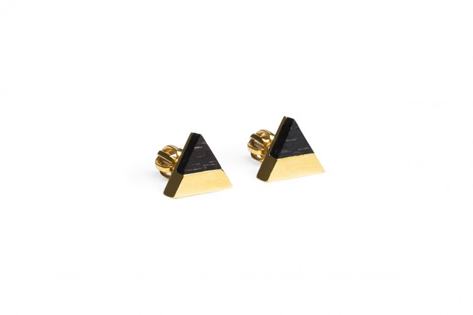Ohrringe Vespa Earrings Triangle von BeWooden