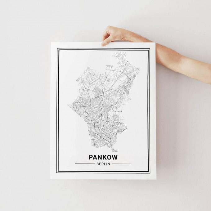 BERLIN Pankow Poster Stadtplan von Skanemarie