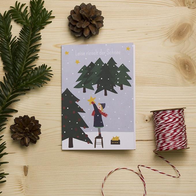 """HEJ Marlen Grußkarte """"Leise rieselt der Schnee"""" mit hochwertigem Kuvert"""