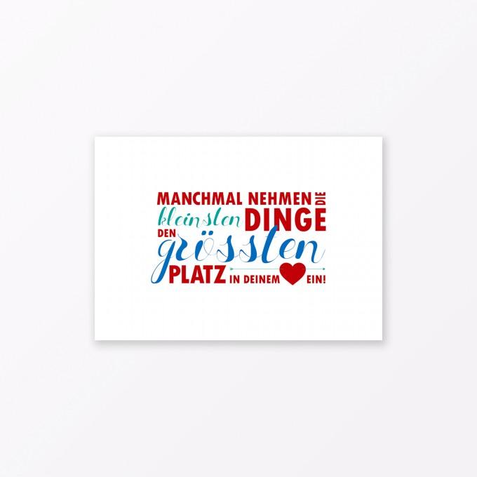 "TYPOP Postkarte ""Kleine Dinge"" DIN A6"