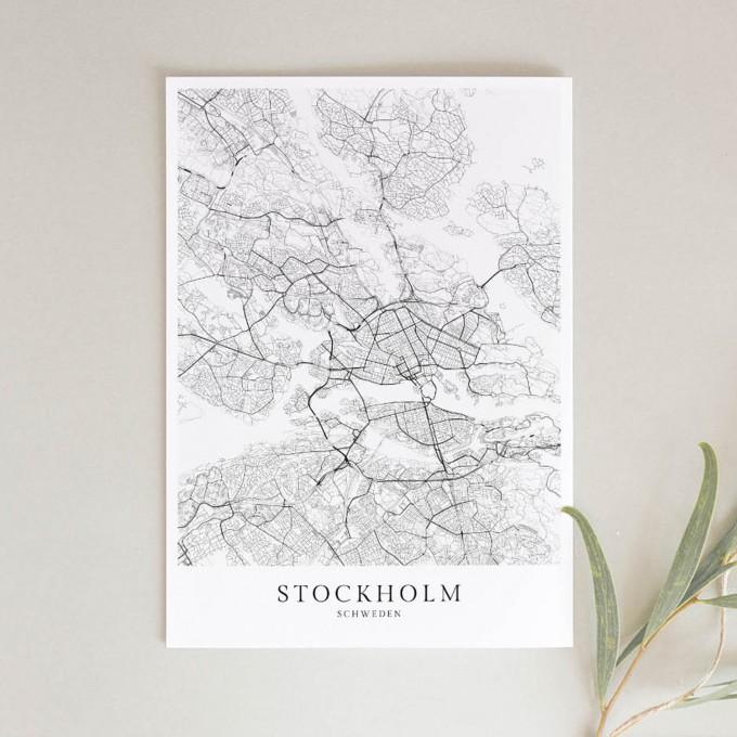STOCKHOLM als hochwertiges Poster im skandinavischen Stil von Skanemarie