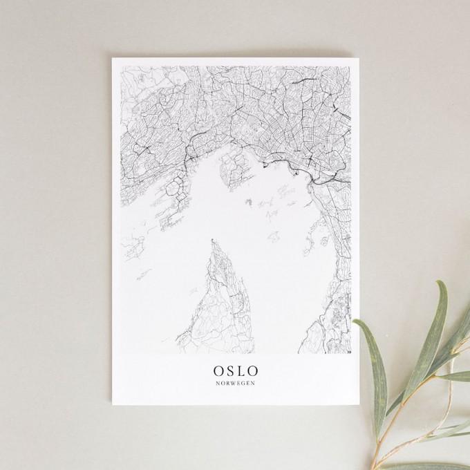 OSLO als hochwertiges Poster im skandinavischen Stil von Skanemarie +++ Geschenkidee