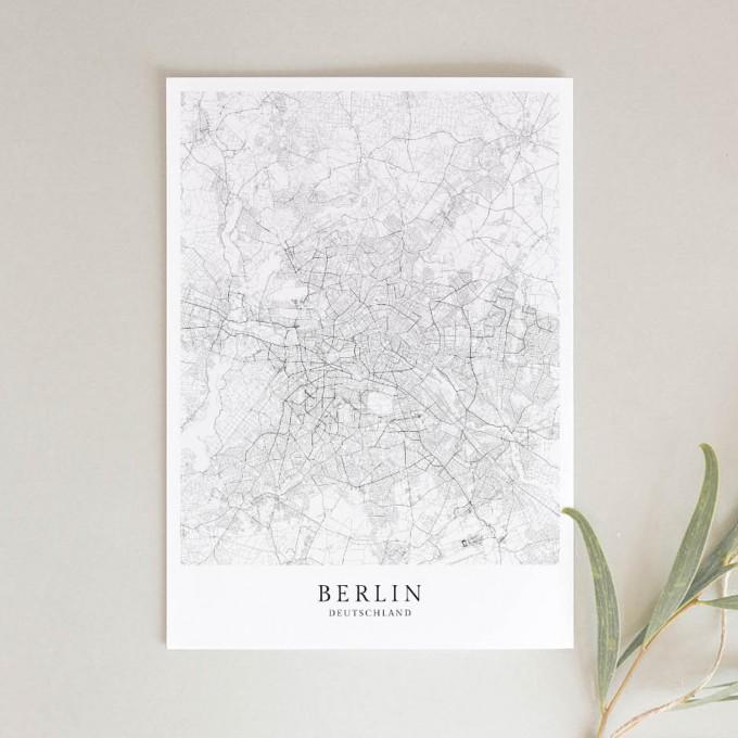 BERLIN als hochwertiges Poster im skandinavischen Stil von Skanemarie +++ Geschenkidee