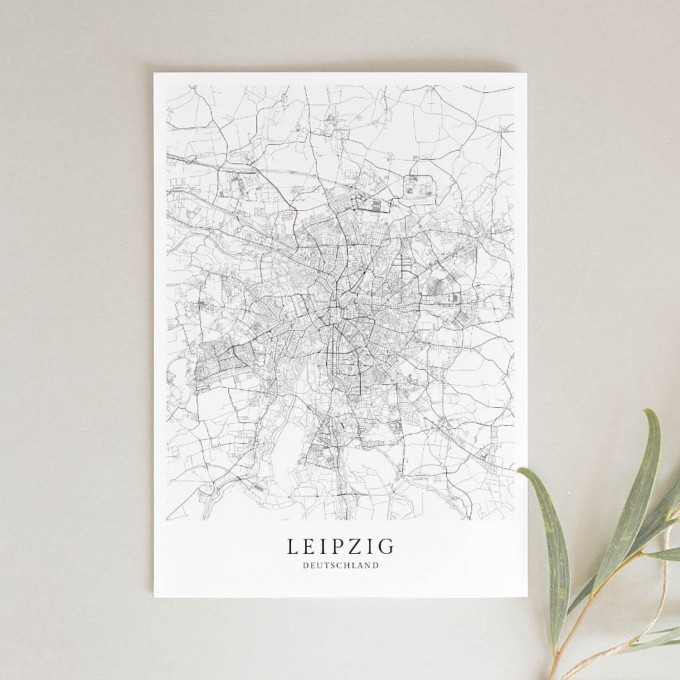 Leipzig als hochwertiges Poster im skandinavischen Stil von Skanemarie