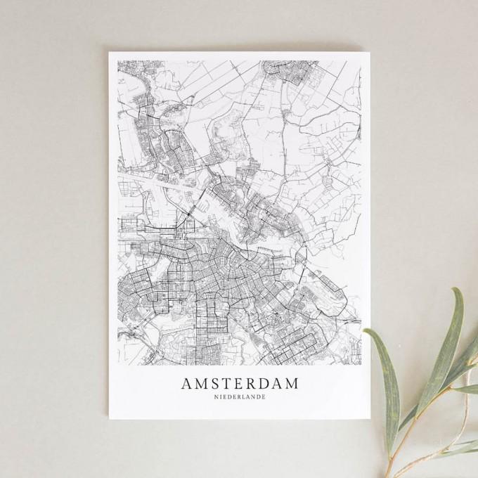 AMSTERDAM als hochwertiges Poster im skandinavischen Stil von Skanemarie +++ Geschenkidee