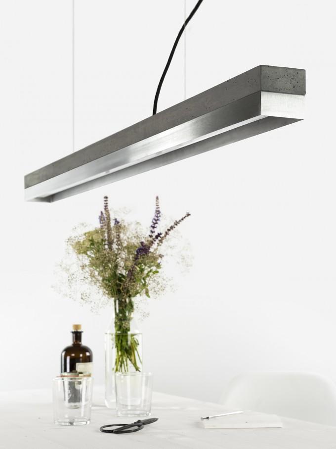 GANTlights - [C1]dark/stainless steel Pendelleuchte Edelstahl