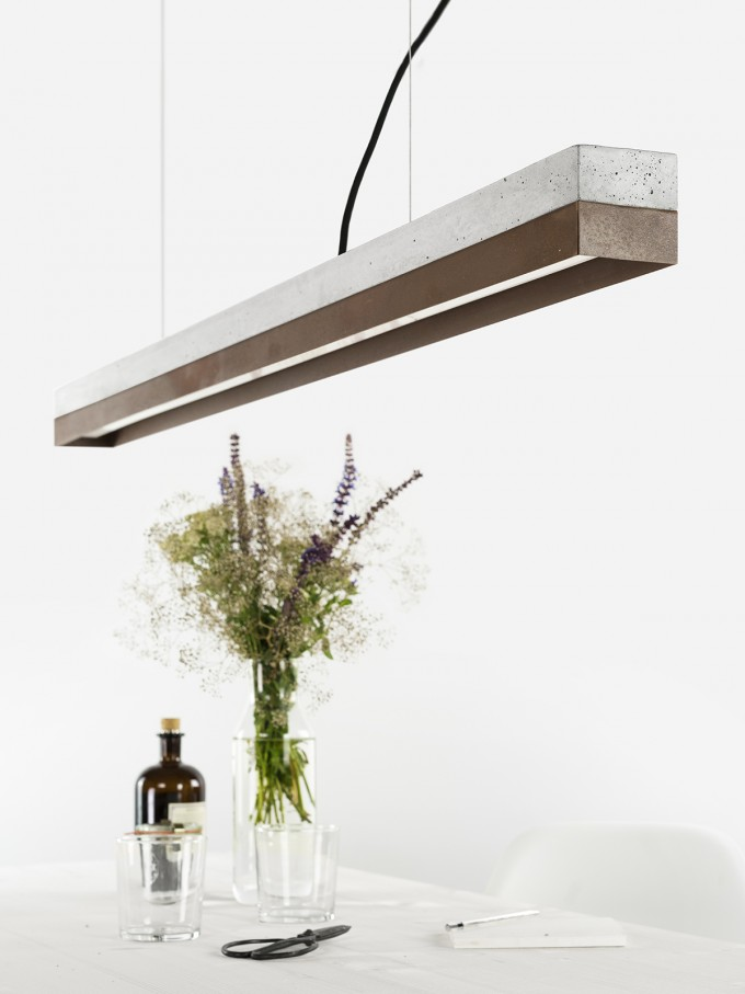 GANTlights - Beton Hängeleuchte [C1]corten Lampe Cortenstahl minimalistisch