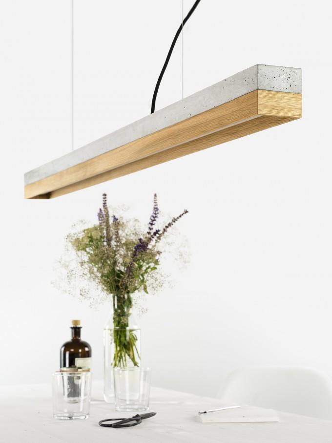 GANTlights - [C1]oak Pendelleuchte Beton Eiche minimalistisch