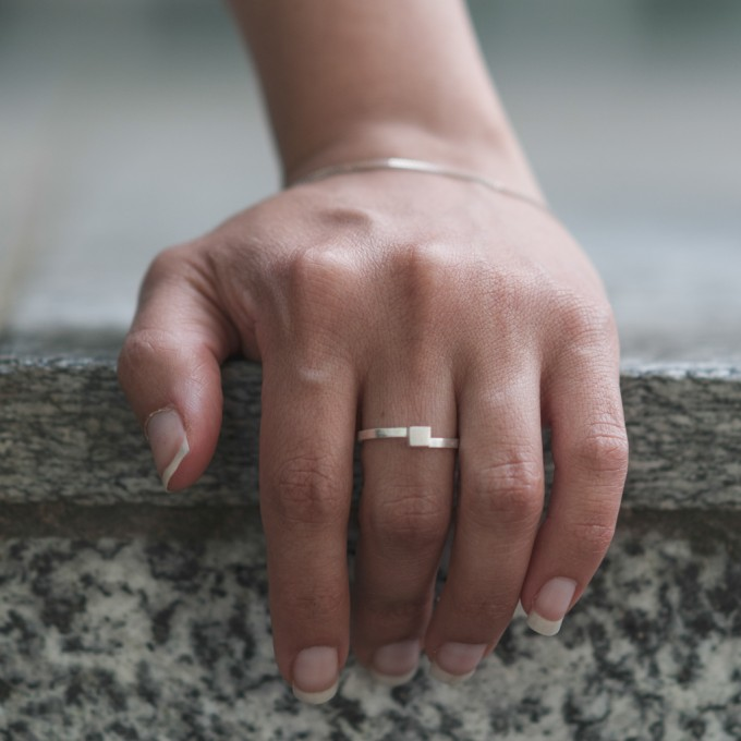 Jonathan Radetz Jewellery, Ring CUBE, Silber 925