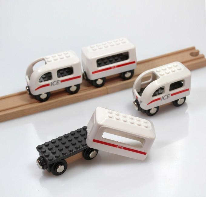 NOPPI ICE Zug, kompatibel zu LEGO u. BRIO - von Neue Freunde