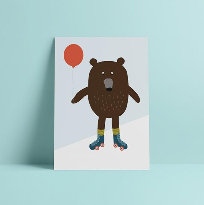 """HEJ Marlen Poster """"Bär"""" A3"""