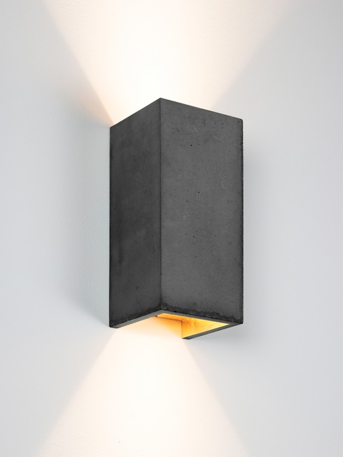 GANTlights [B8]dark Wandlampe rechteckig