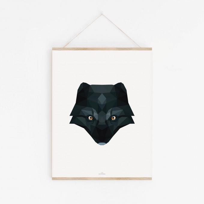 POLARFUCHS Poly Art als hochwertiger Print im minimalistischen Stil von Skanemarie +++ Geschenkidee +++ Poster, Wandbild