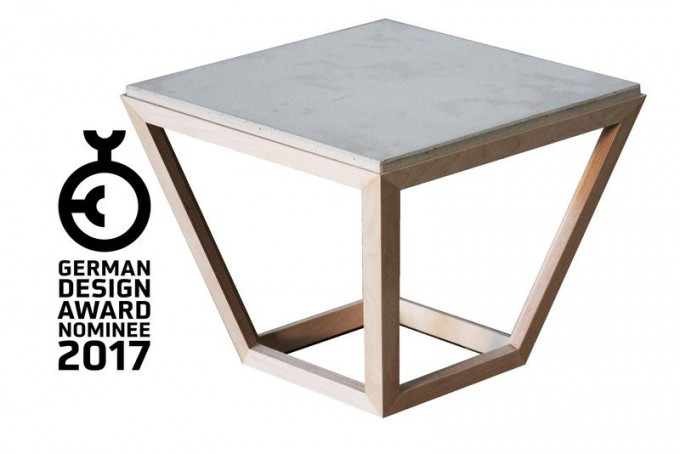 betonIDEE cretable - Tisch aus Holz und Beton