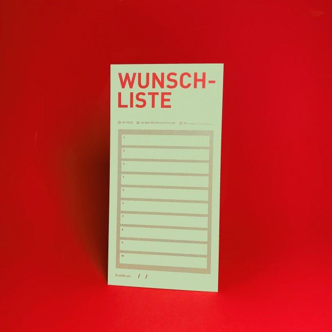 Bob and Uncle Design WUNSCHLISTE / Karte / 10er-Set