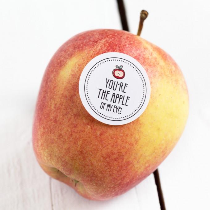 Kleine Papeterie // Obststicker // Apfel