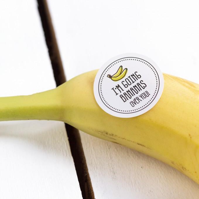 Kleine Papeterie // Obststicker // Banane