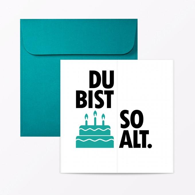 Typop2 Teiliges Set Design Geburtstagskarte Du Bist So Alt