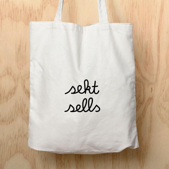 "edition ij Baumwolltasche ""sekt sells"""