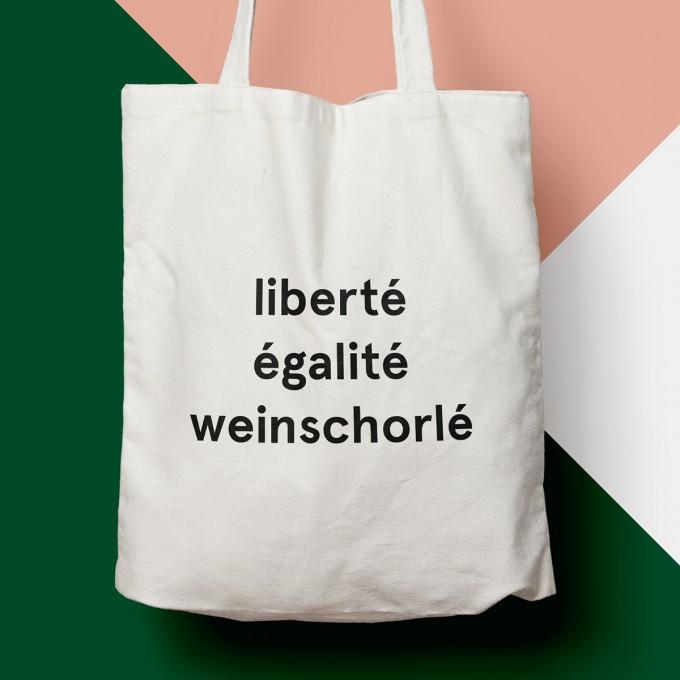 """edition ij Baumwolltasche """"liberté égalité weinschorlé"""" – Das Original"""