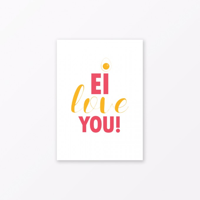 "TYPOP Postkarte ""Ei love you"" DIN A6"