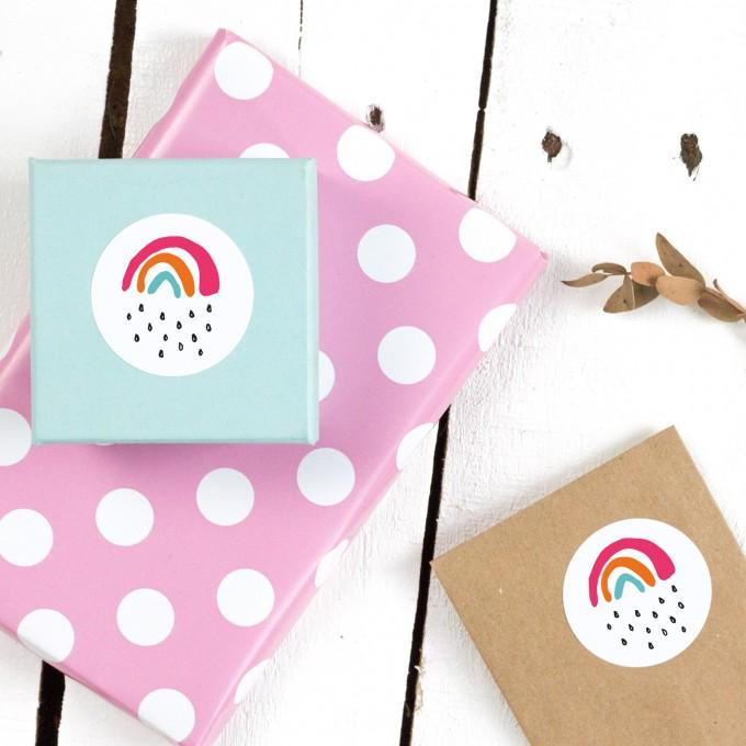 Kleine Papeterie // Kleiner Regenbogen // Sticker