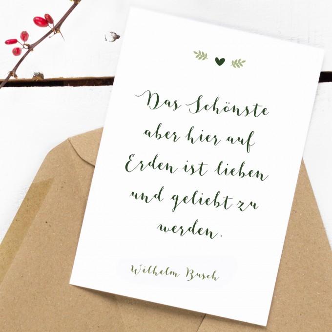 Kleine Papeterie // Postkarte // Greenery