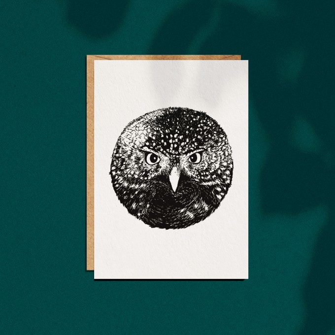 "Grußkarte ""Eule"", A6 mit Umschlag"