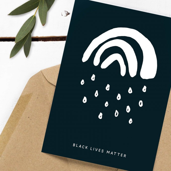Kleine Papeterie // Spenden-Postkarte // Black Lives Matter