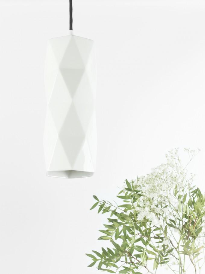 GANTlights - [K2] Hängelampe trianguliert Porzellan Keramik Lampe