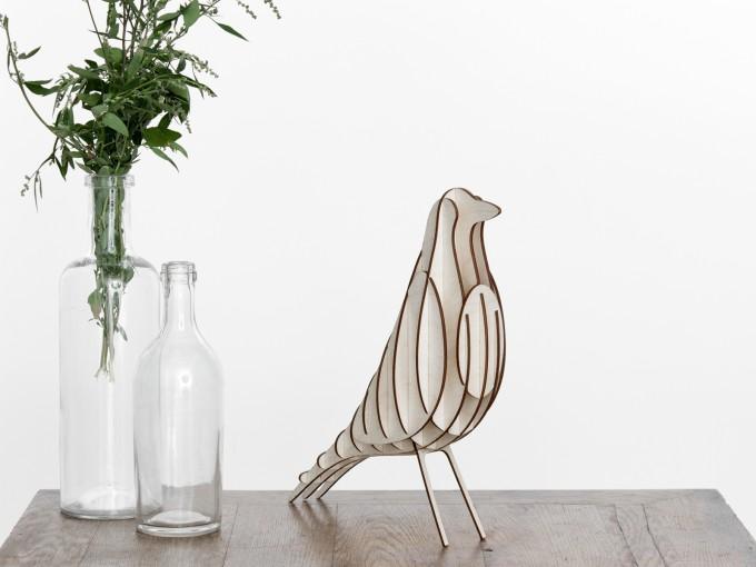 GANTlights - DIY Stecksatz [H2] Vogel Dekoration Birke