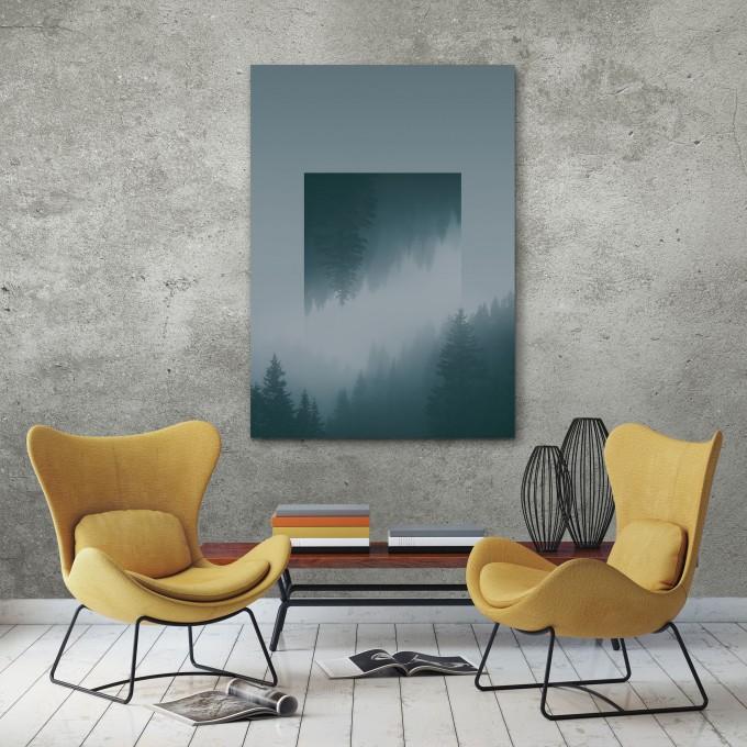 JOE MANIA / Modern Artprint Poster / Landscapes Mirrored  1 (Karwendel) DIN A4 - A0