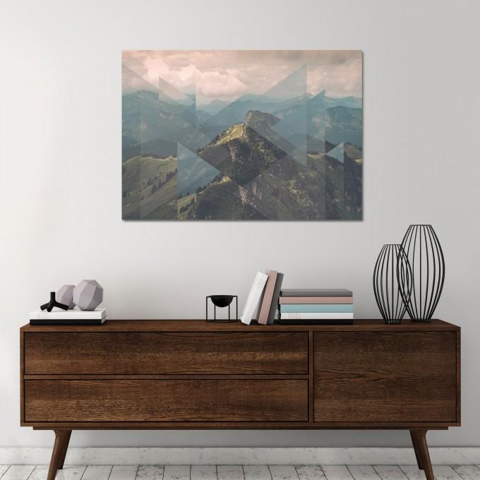 JOE MANIA / Modern Artprint Poster / Landscapes Scattered 1 (Alps) DIN A4 - A0