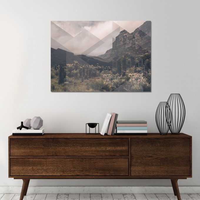 JOE MANIA / Modern Artprint Poster / Landscapes Scattered 1