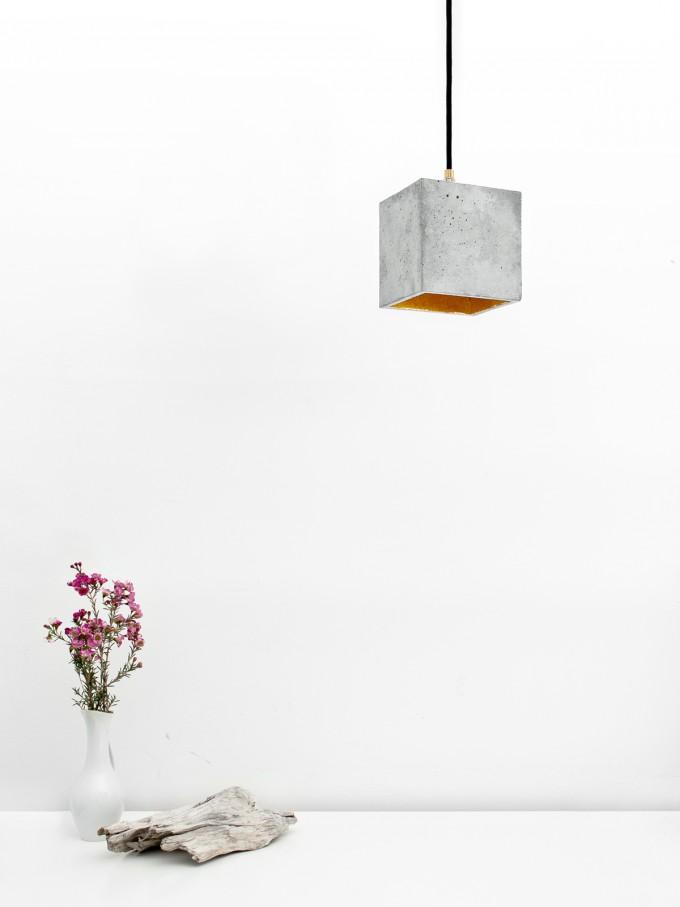 GANTlights - Beton Hängelampe [B1] Lampe Gold minimalistisch