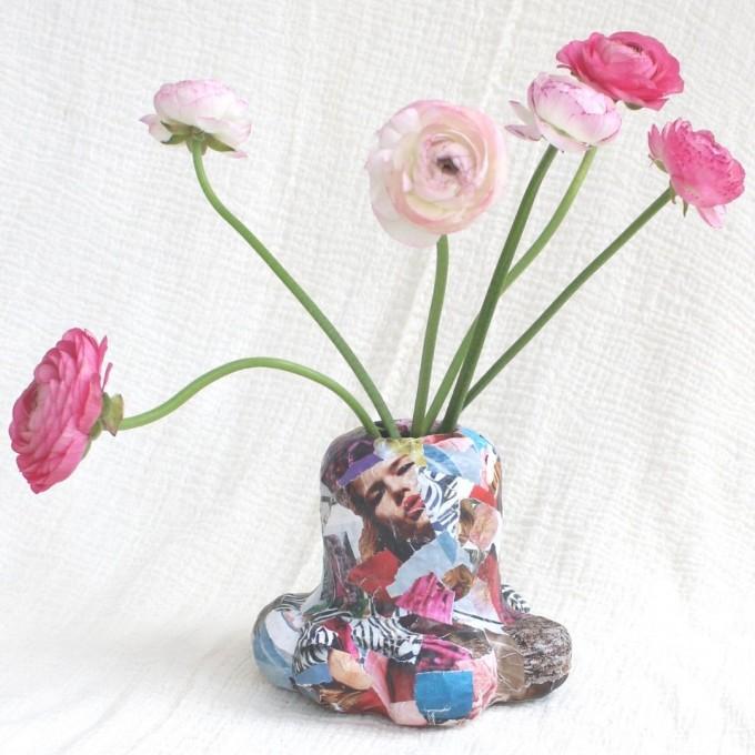 Catchup Studios - nachhaltige Vase - ID Magazin Edition - Collagen Style