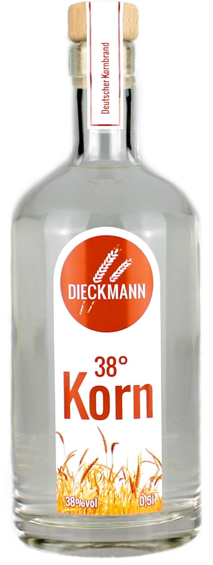 Weizenbrennerei & Likörmanufaktur Dieckmann Korn 38° 0,5l