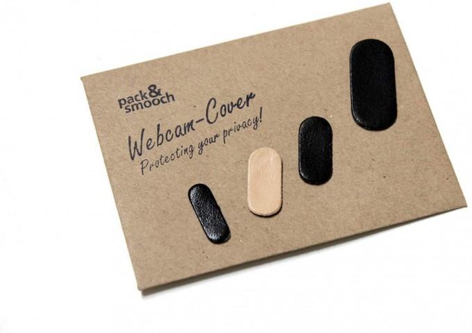 Pack & Smooch Webcam Cover / Webcam Abdeckung aus Leder
