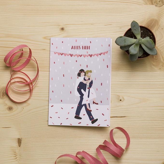 """HEJ Marlen Grußkarte """"Hochzeit"""" mit hochwertigem Kuvert"""