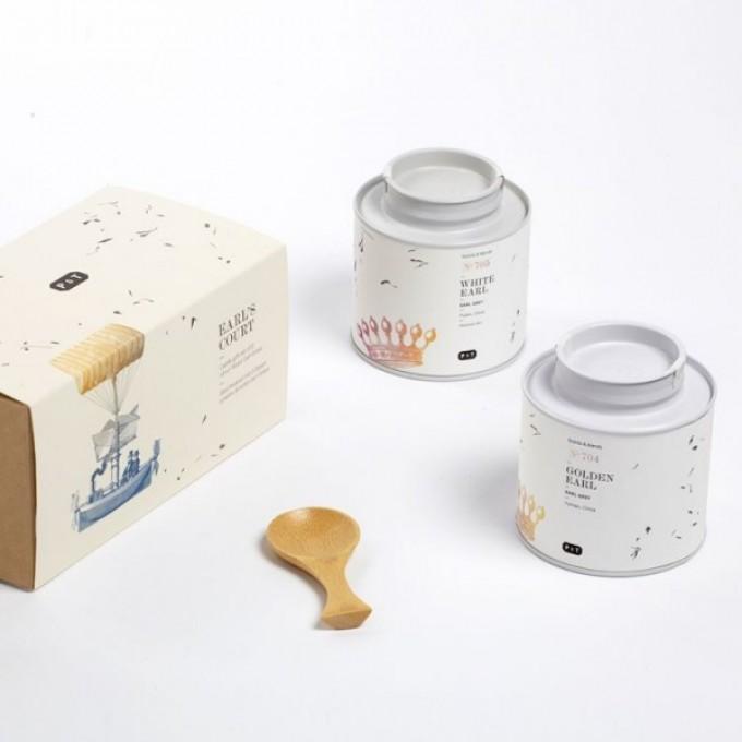 P & T EARL'S COURT - Geschenkbox mit 2 Earl Grey Tees