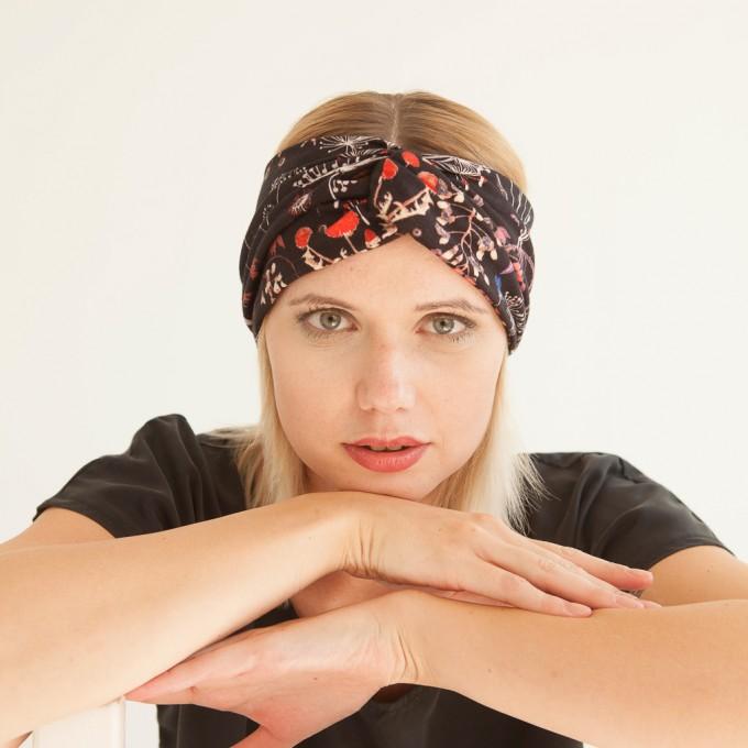 """WiDDA - geblümtes Stirnband """"Pusteblume"""" aus Jersey"""