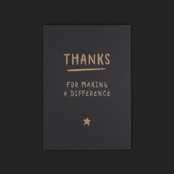 Feingeladen // CHALK TALES // Thanks (Black Edition) – A6