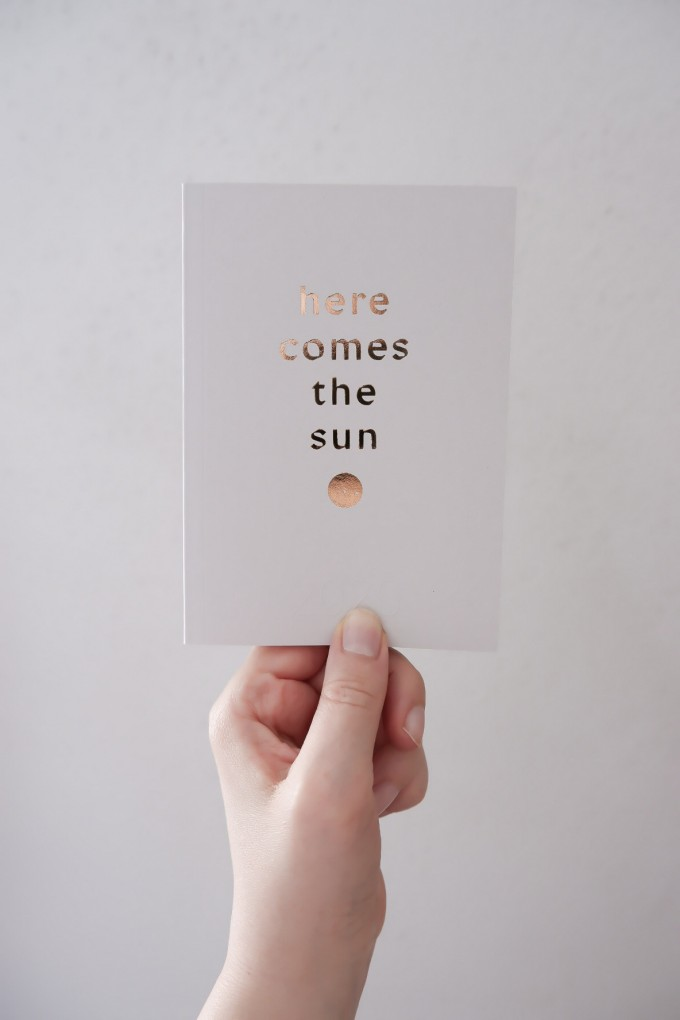 HERE COMES THE SUN - PETITE PLANNER 2020 - A6 Kalender - Anna Cosma