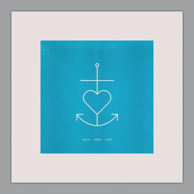 Feingeladen // SIMPLY DIVINE // Anchor Symbol »Faith Hope Love« (AQ)