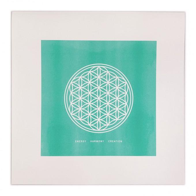 Feingeladen // SIMPLY DIVINE // Flower of Life »Energy Harmony Creation« (MI), RISO-Kunstdruck, 30 x 30 cm