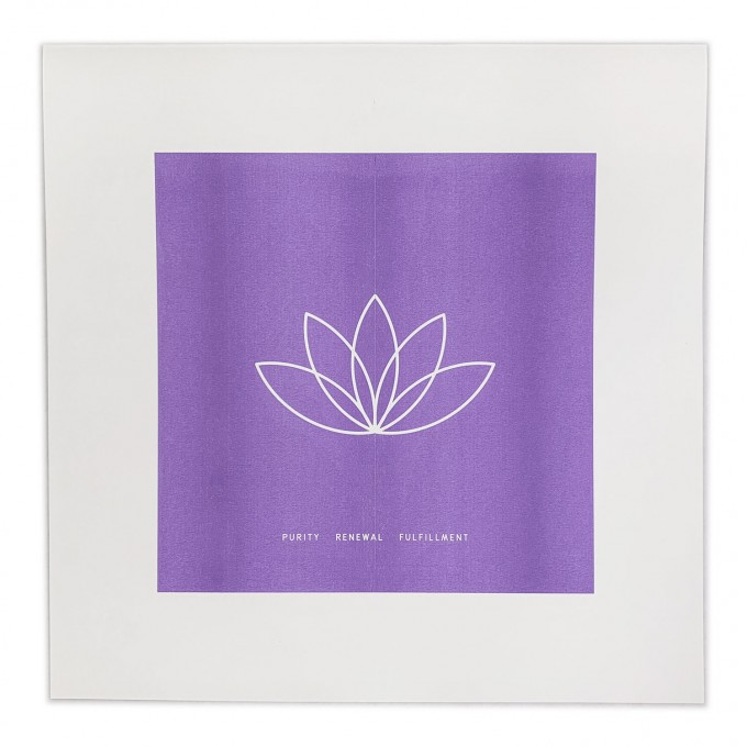 Feingeladen // SIMPLY DIVINE // Lotus Flower »Purity Renewal Fulfillment« (VT), RISO-Kunstdruck, 30 x 30 cm