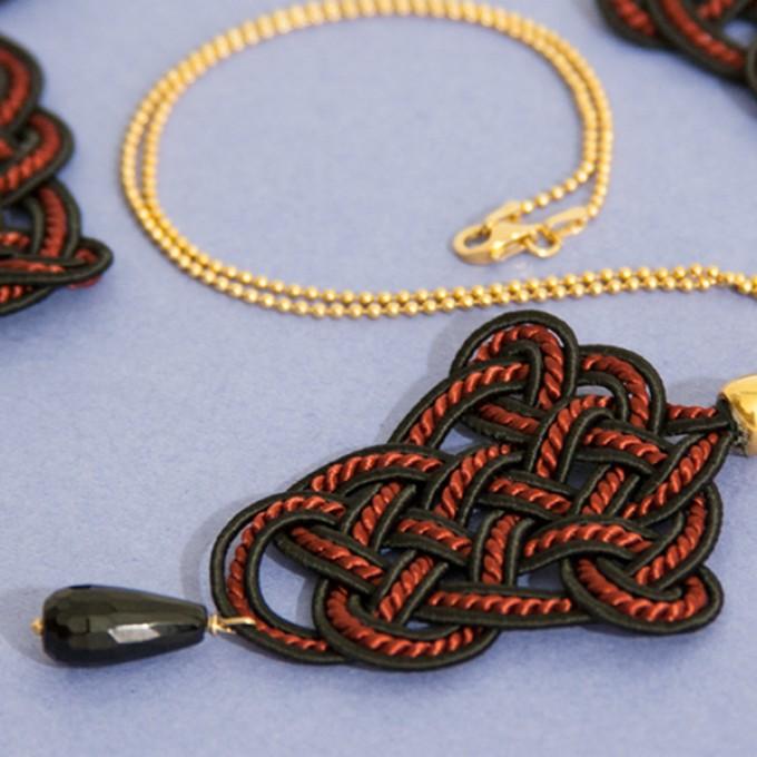 Irmeline - Accessoires Manufaktur »Posamente« Kette in rot & schwarz